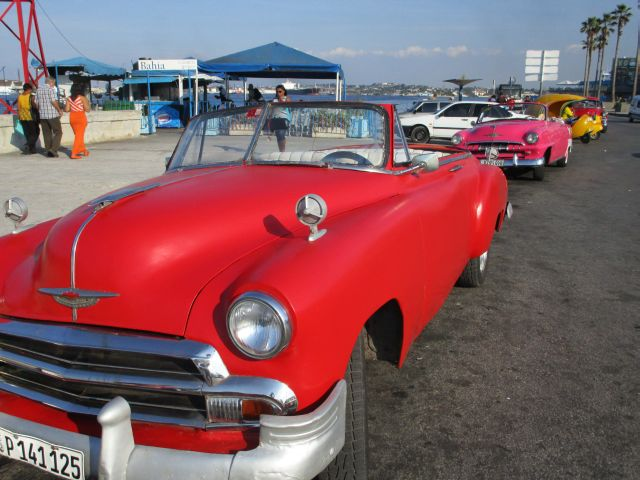 Vintage American Cars by the Port in Havana